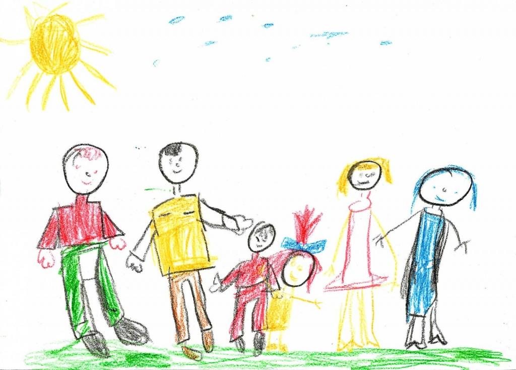 Рисунок в первый класс моя семья, сделать бумаги цветы